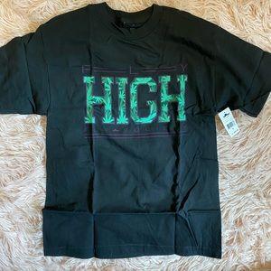 New Men's black high shirt